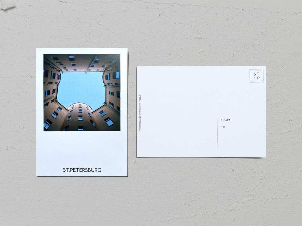Авторская фото открытка «Двор-колодец на Добролюбова, 19» - фотограф Валерия Кузнецова
