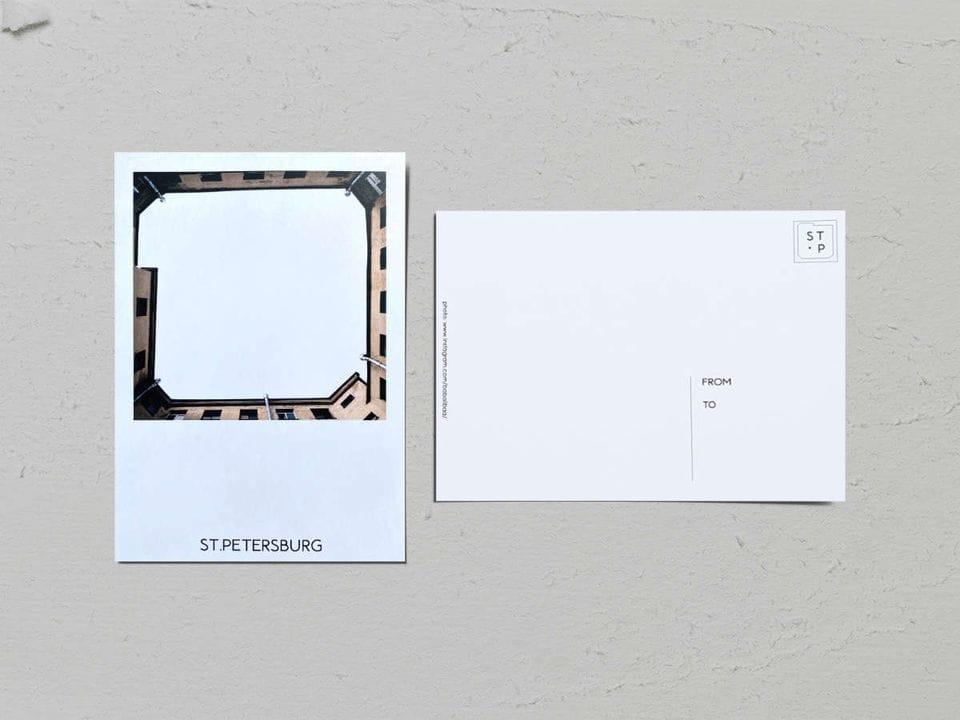 Авторская фото открытка «Двор-колодец на Каменноостровском, 44Б» - фотограф Валерия Кузнецова
