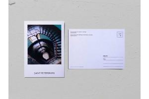 Почтовая открытка фото «Доходный дом Станового», винтовая лестница Валерия Кузнецова