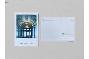 Почтовая открытка фото «Доходный дом купца Захарова», входная дверь Валерия Кузнецова