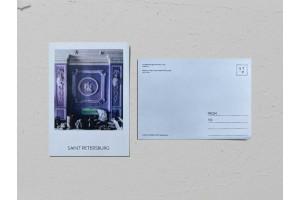 Почтовая открытка фото «Особняк Питера Бетлинга», лепнина на стене, Валерия Кузнецова