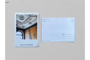 Почтовая открытка фото «Дом эмира Бухарского», лепнина на потолке,  Валерия Кузнецова