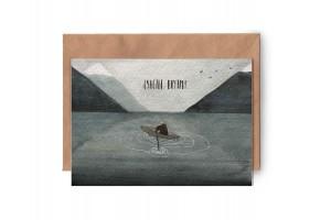 Почтовая открытка «Счастье внутри»