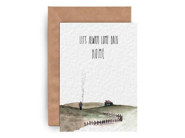 Почтовая открытка «LET'S come back HOME»