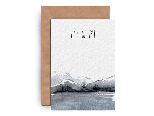 Почтовая открытка «LET'S BE FREE»