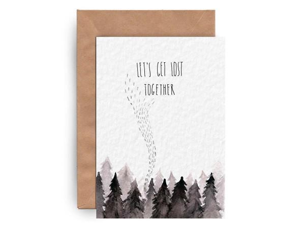 Почтовая открытка «LET'S GET LOST TOGETHER»