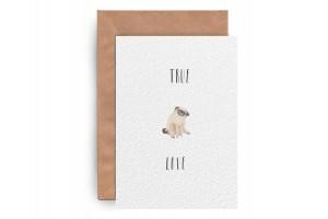 Почтовая открытка «Pug Love»