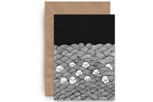 Почтовая открытка «Тюлени в лаваше»