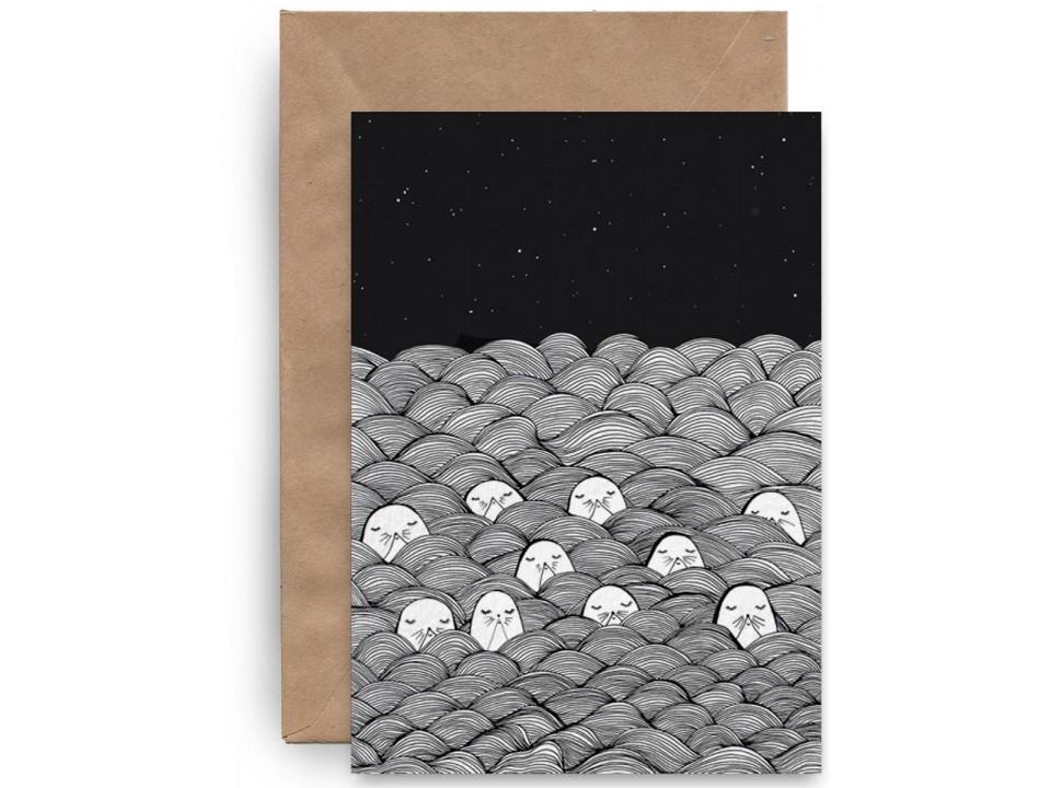 Почтовая «Тюлени в лаваше» для посткроссинга