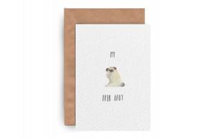 Почтовая открытка «Pug Lady»