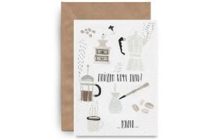 Почтовая открытка «Пить Кофе»