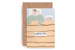 Почтовая открытка «Спячка. Аппликация»