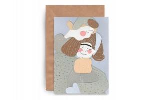 Почтовая открытка «Нежность. Аппликация»