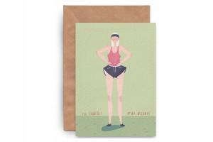 Почтовая открытка «На спорте! Бег»