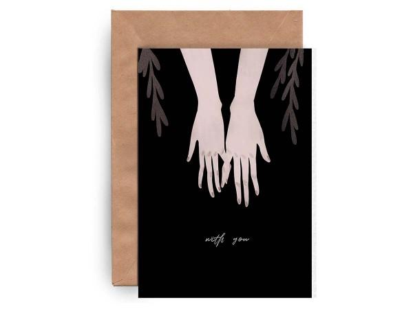 Почтовая открытка «With you»