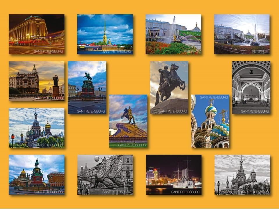 Набор фото открыток Санкт-Петербург