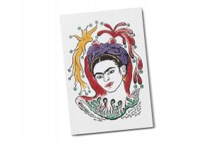 Почтовая открытка «Портрет Фриды Кало» автор Диего Ривера