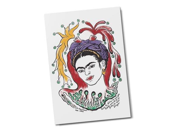 Открытка «Портрет Фриды Кало»