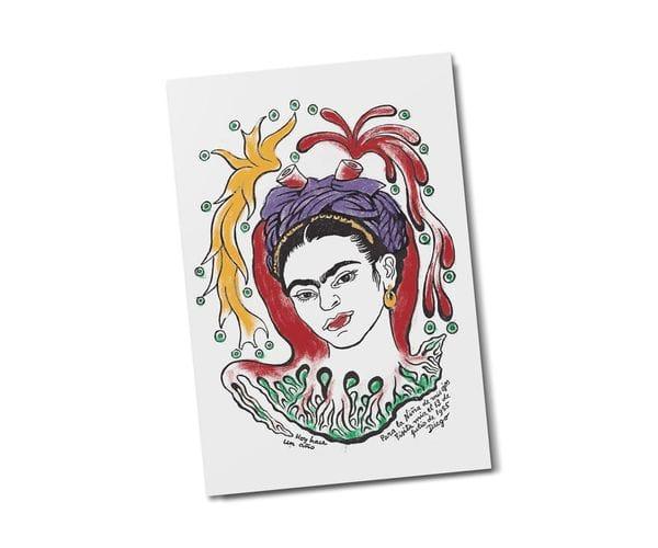 Почтовая открытка «Портрет Фриды Кало», из коллекции Музея Долорес Ольмедо, автор Диего Ривера