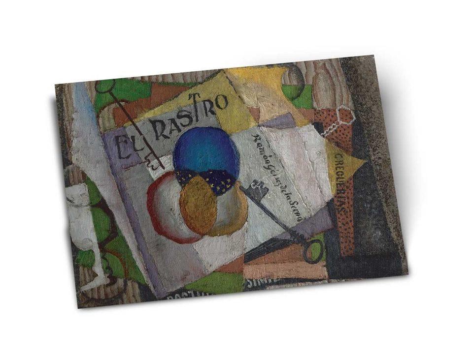 Почтовая открытка «Блошиный рынок», из коллекции Музея Долорес Ольмедо, автор Диего Ривера