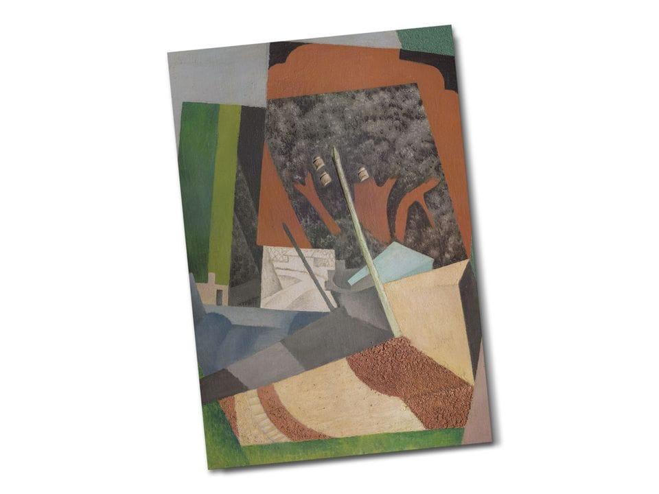 Почтовая открытка «Телеграфный столб», из коллекции Музея Долорес Ольмедо, автор Диего Ривера