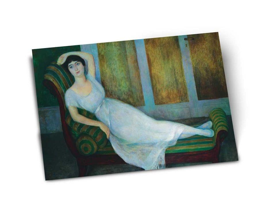 Почтовая открытка «Портрет Ангелины Беловой», из коллекции Музея Долорес Ольмедо, автор Диего Ривера