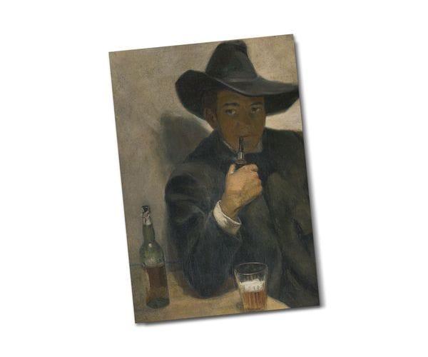 Почтовая открытка «Автопортрет», из коллекции Музея Долорес Ольмедо, автор Диего Ривера