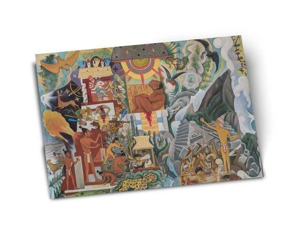 Почтовая открытка «Доколумбова Америка» автор Диего Ривера