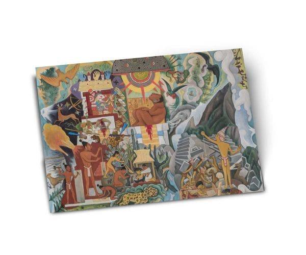 Почтовая открытка «Доколумбова Америка», из частного собрания, автор Диего Ривера