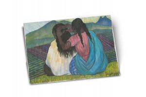 Почтовая открытка «Причесывающиеся женщины» автор Диего Ривера