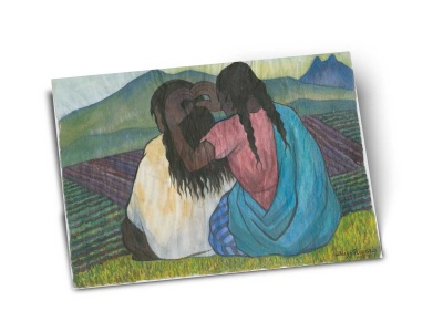Открытка «Причесывающиеся женщины»