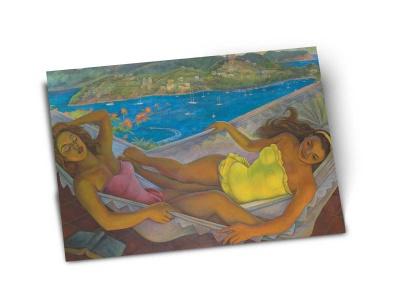 Почтовая открытка «Гамак» автор Диего Ри