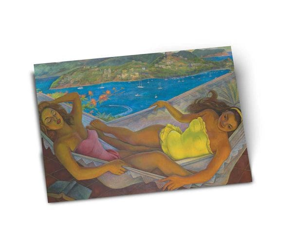 Почтовая открытка «Гамак», из коллекции Музея Долорес Ольмедо, автор Диего Ривера