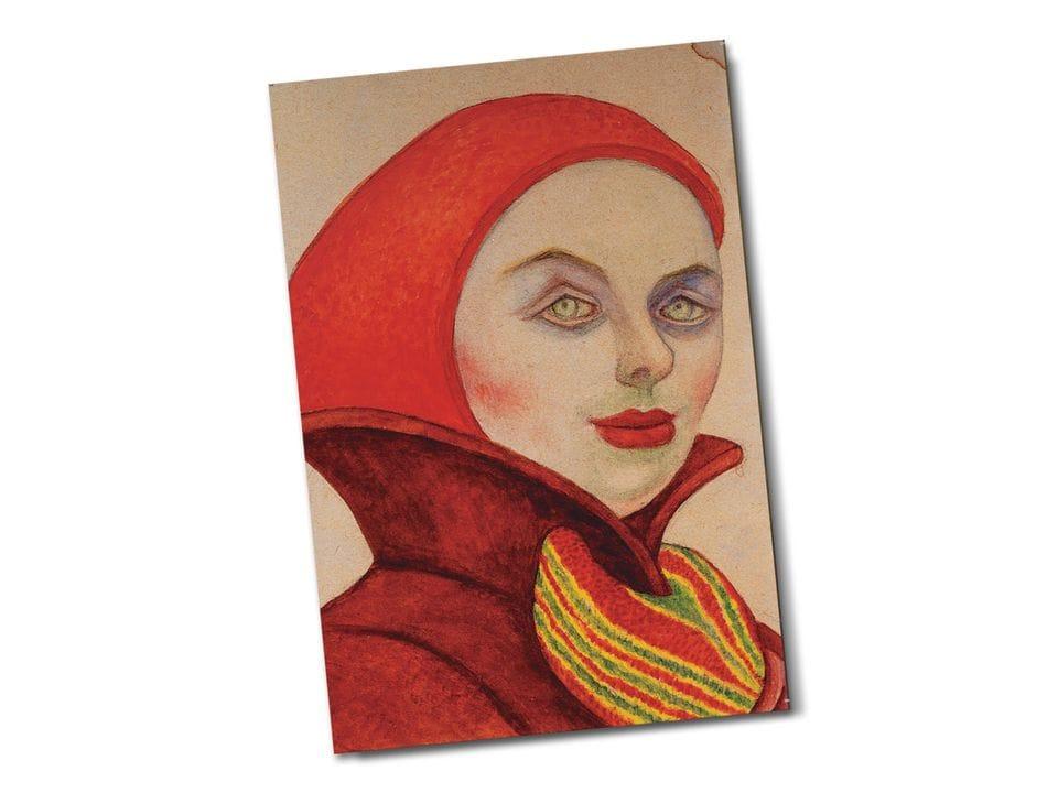 Почтовая открытка «Русская медсестра», из коллекции Музея Долорес Ольмедо, автор Диего Ривера