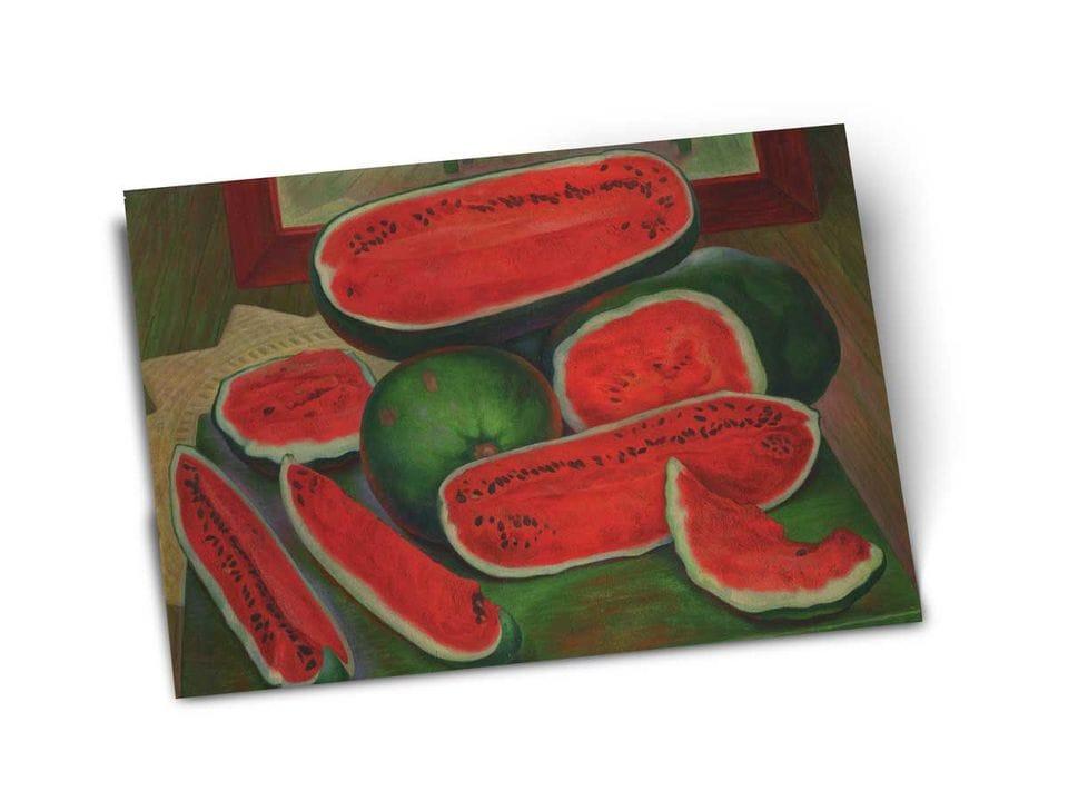 Почтовая открытка «Арбузы», из коллекции Музея Долорес Ольмедо, автор Диего Ривера