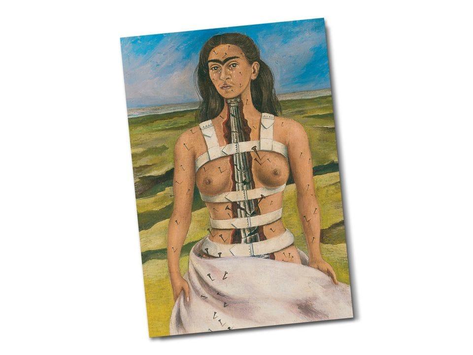 Почтовая открытка «Сломанная колонна», из коллекции Музея Долорес Ольмедо, автор Фрида Кало