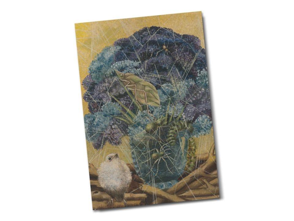 Почтовая открытка «Цыпленок», из коллекции Музея Долорес Ольмедо, автор Фрида Кало