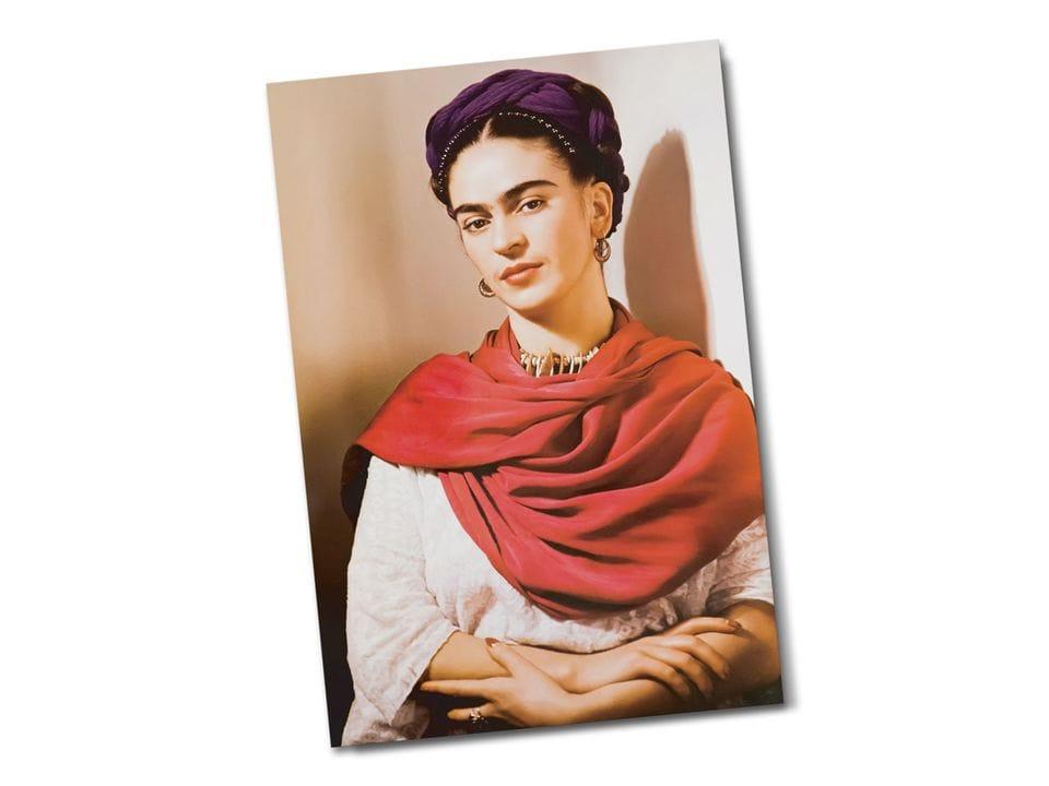 Почтовая открытка «Портрет Фриды», из коллекции Музея Фриды Кало, Койоакан, Мехико, автор Фрида Кало