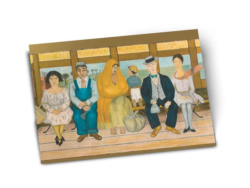 Почтовая открытка «Автобус», из коллекции Музея Долорес Ольмедо, Мехико, автор Фрида Кало