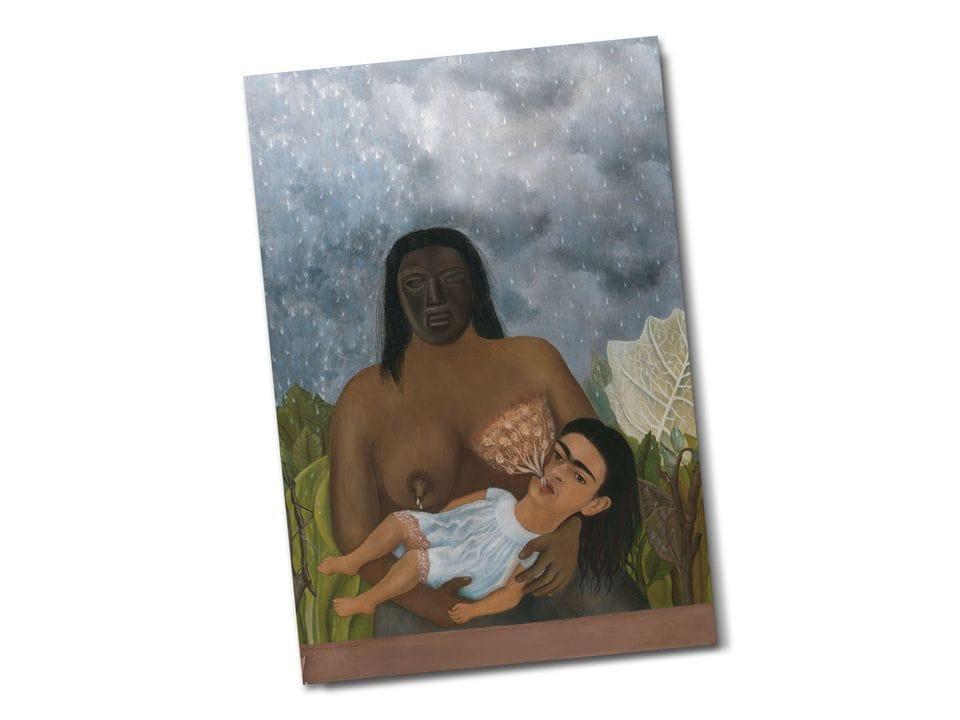 Почтовая открытка «Моя кормилица и Я», из коллекции Музея Долорес Ольмедо, Мехико, автор Фрида Кало