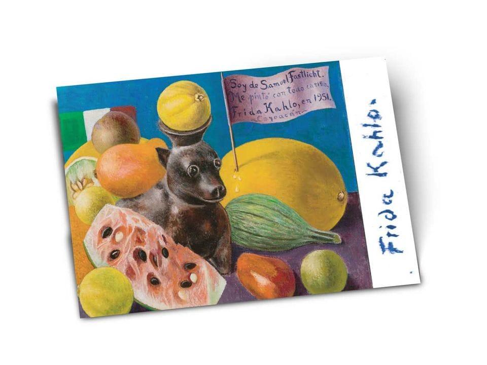 Почтовая открытка «Натюрморт (Я принадлежу Самуэлю Фаслихту)», из частного собрания, автор Фрида Кало