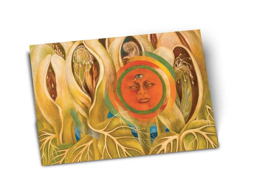 Почтовая открытка «Солнце и жизнь», из частного собрания, автор Фрида Кало