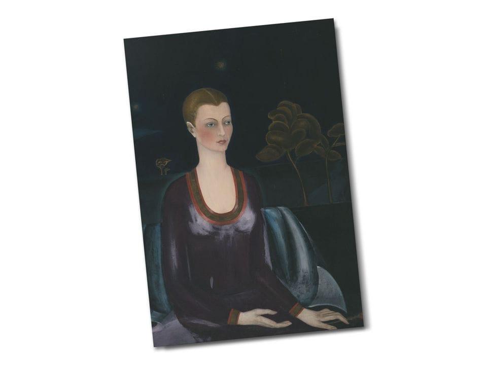 Почтовая открытка «Портрет Алисии Галант», из коллекции Музея Долорес Ольмедо, Мехико, автор Фрида Кало