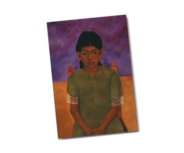 Почтовая открытка «Портрет Вирджинии», из коллекции Музея Долорес Ольмедо, Мехико, автор Фрида Кало