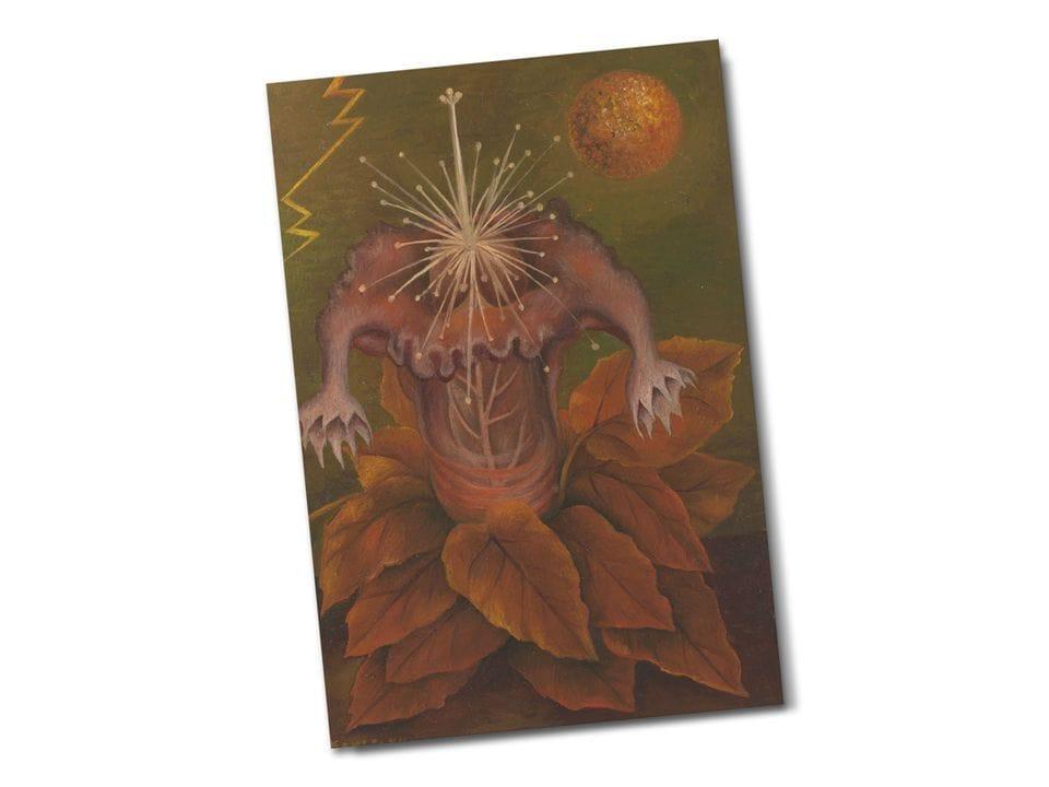 Почтовая открытка «Цветок жизни», из коллекции Музея Долорес Ольмедо, Мехико, автор Фрида Кало