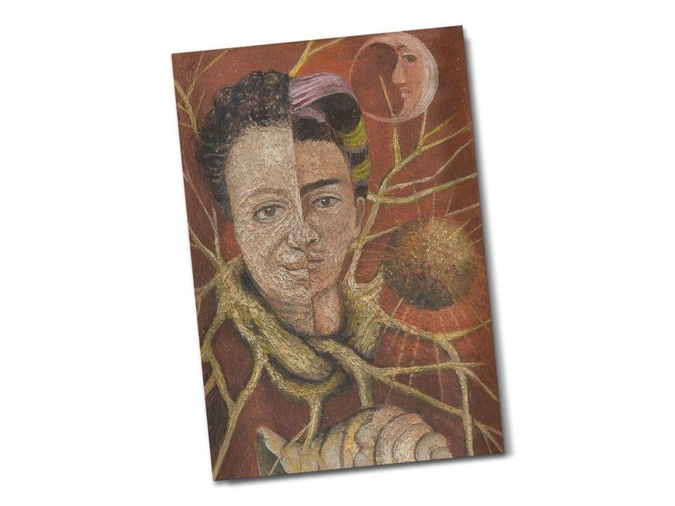 Почтовая открытка «Диего и я», из частного собрания, автор Фрида Кало