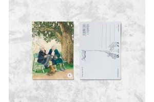 Почтовая открытка «Веселые бабушки и сладкая вата»