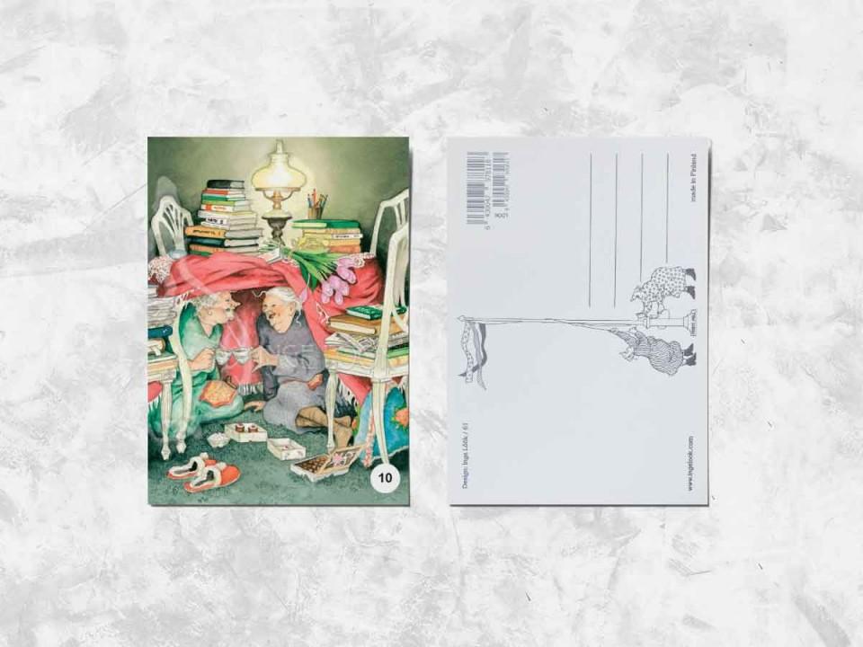 Открытка из коллекции Инге Лук «Весёлые бабушки и чаепитие»