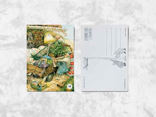 Почтовая открытка «Весёлые бабушки и переезд»