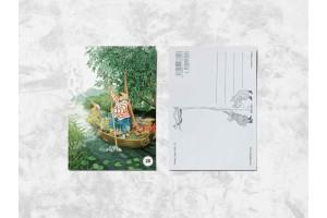 Почтовая открытка «Весёлые бабушки в лодке» Инга Лук